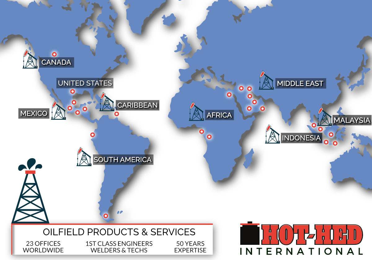 Oilfield Products & Services Global Locations   Hot-Hed® Intl